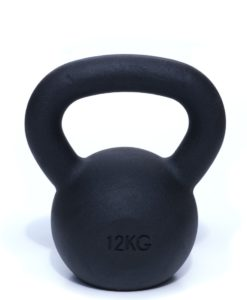 smooth powder coated kettlebell