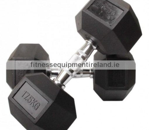 fitquip_17.5kg_rubber_hex_dumbbell