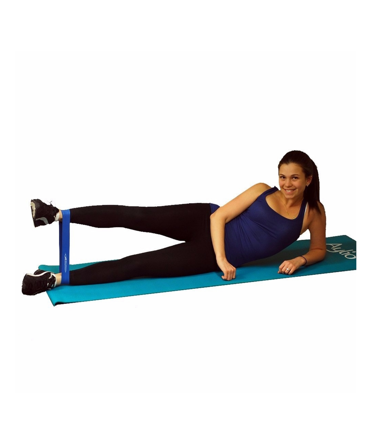 Exercising loop resistance band fitness equipment