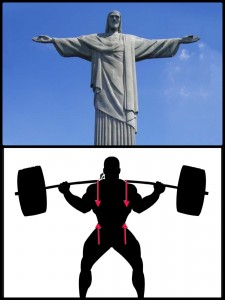 christ the redeemer and barbell set