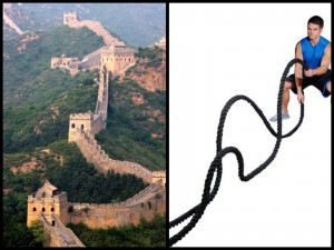 great wall of china and battleropes