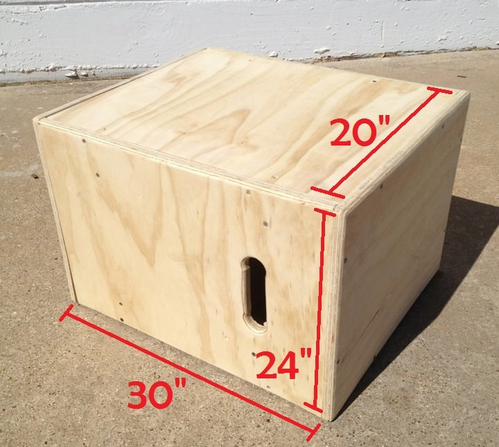 3 in 1 wooden plyometric box 20 x 24 x 30 fitness for Plyo box template