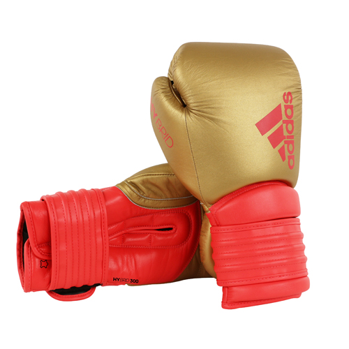 Bosu Ball Ireland: Adidas Hybrid 300 Boxing Glove-Gold