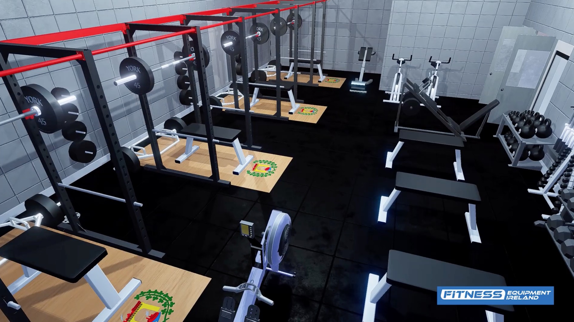 3d gym design fitness equipment ireland best for for Gym designs and layout