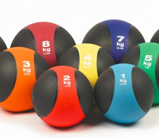 Rubber Medicine Balls With Bounce Fitness Equipment