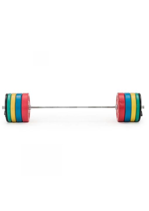 7ft bar and 150kg colored plates