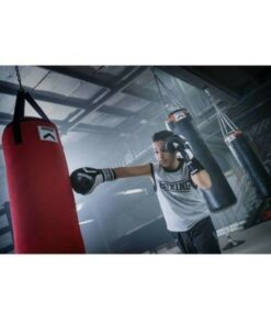 LAOCH FITNESS Professional Boxing Bags (Black and White)