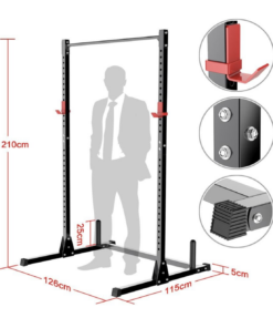 Measurements Squat Stand with Pull Up Bar