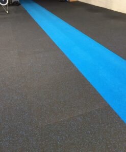 15mm Rubber Gym Flooring with Blue Fleck