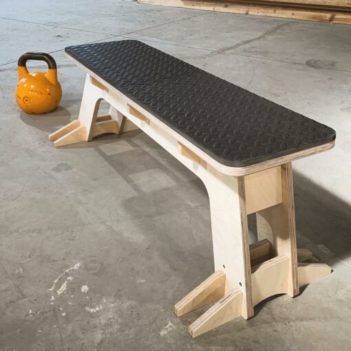 wooden flat bench