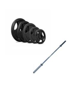 100Kg Tri Grip Iron Weight Set & Bar