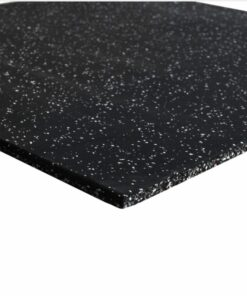 Rubber flooring with white fleck